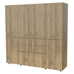 4 door closet